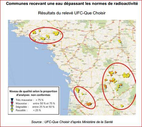 Вода во Франции нитраты атразин радиоактивность 5