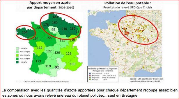 Вода во Франции нитраты 3