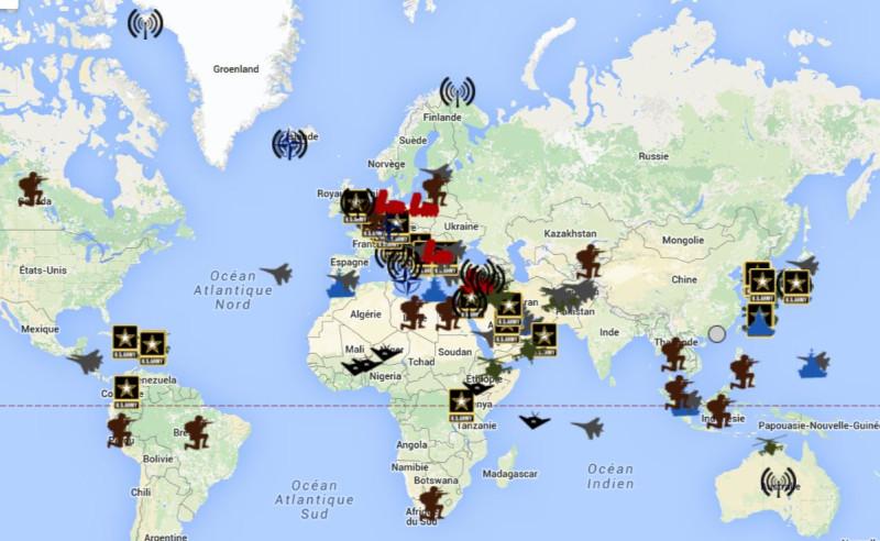 Карта мир за рубежом