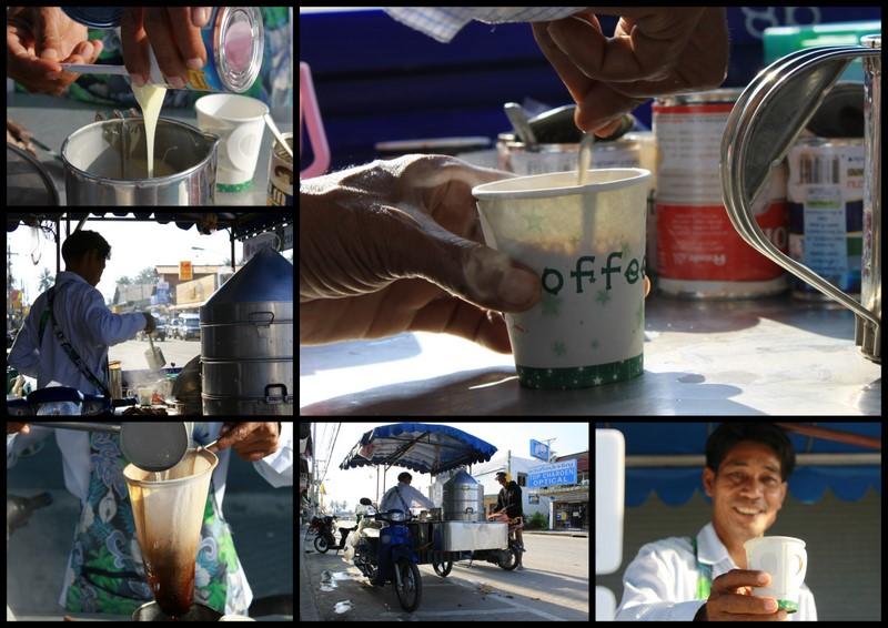 Уличный кофе в Таиланде.