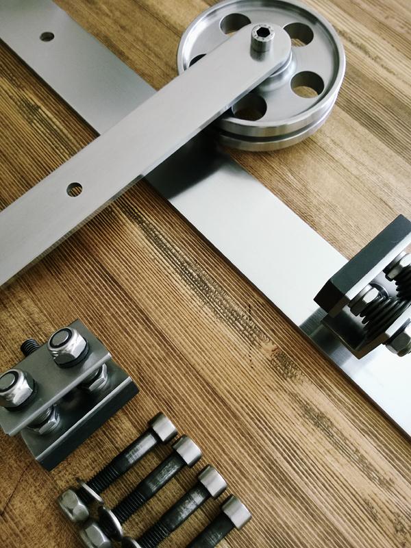 Складные двери на роликах своими руками