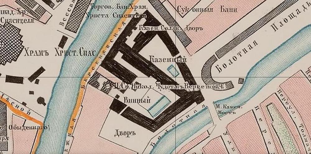 Фрагмент карты 1859 года