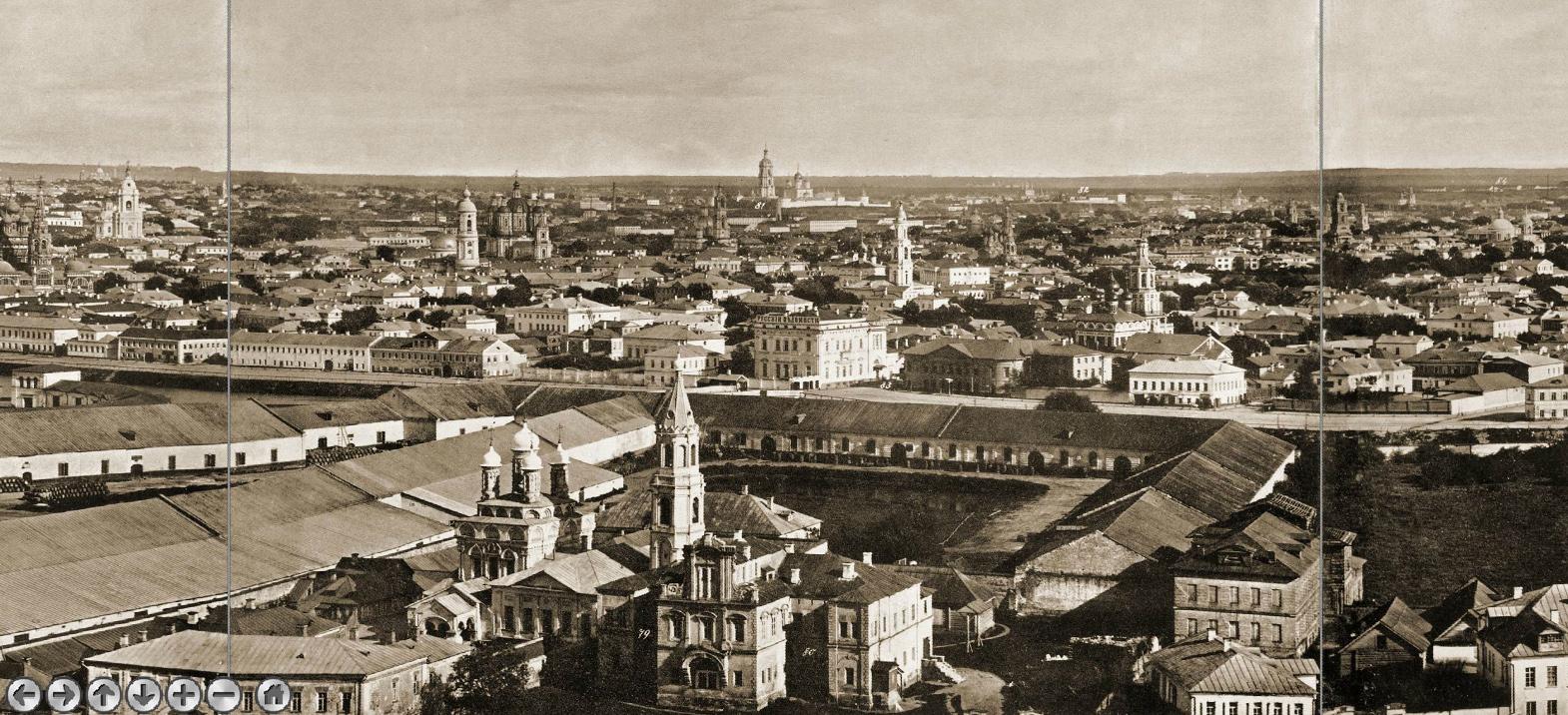 Фрагмент панорамы с храма Христа Спасителя, 1867 г.