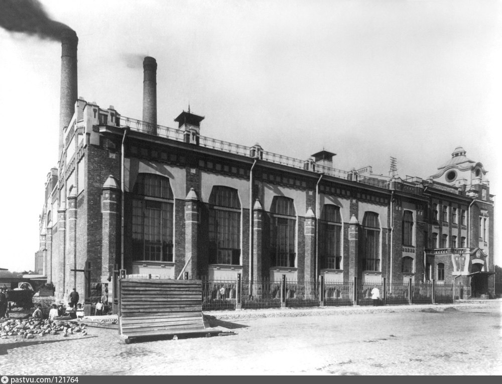 Центральная трамвайная электростанция в Санкт-Петербурге, 1907 г.