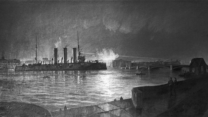 крейсер Аврора-революция