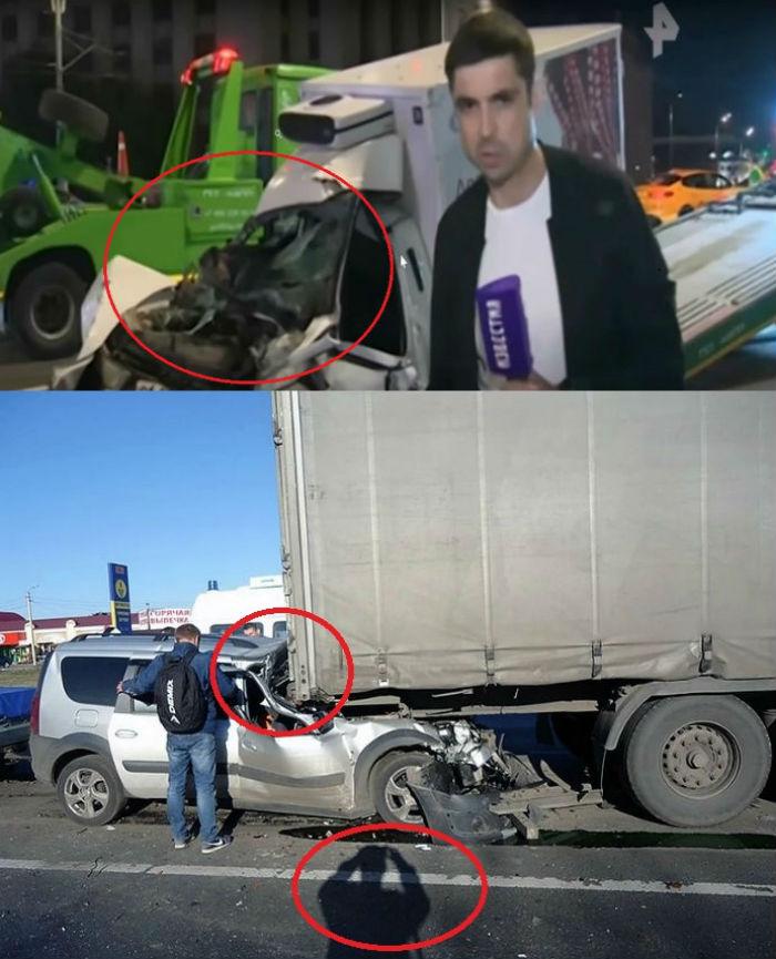 Фотоколлаж. Характерные повреждения автомобилей