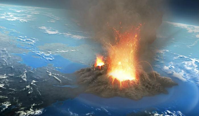 Супервулкан уничтожает планету