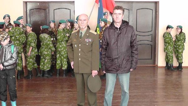 Полковник Л. В. Хабаров и капитан запса В. А. Сивоконь