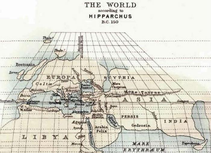 Карта мира, сотавленная Гиппархом