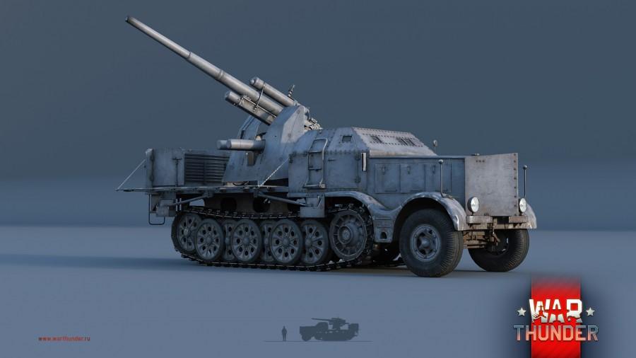 8.8cm Flak 37 (Sf.) auf s. Zgkw. 18t