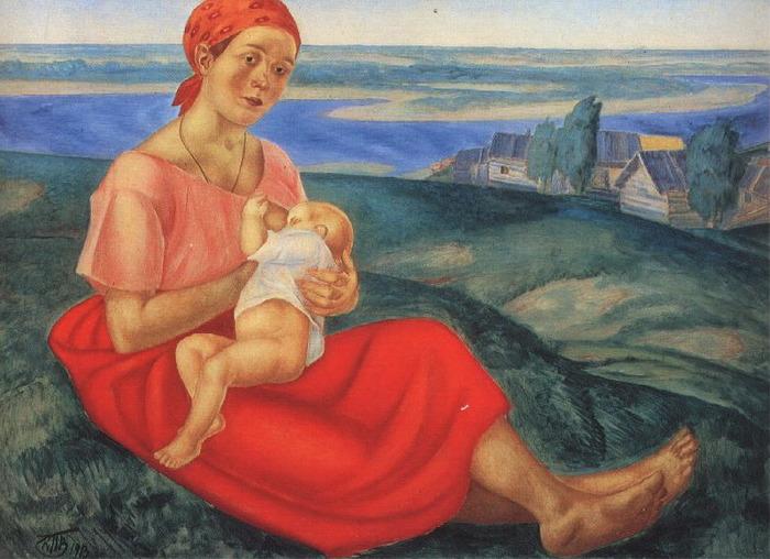 Женщина мать Петров-Водкин