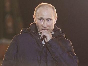 Плачущий Путин
