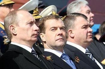 Путин, Медведев, Сердюков