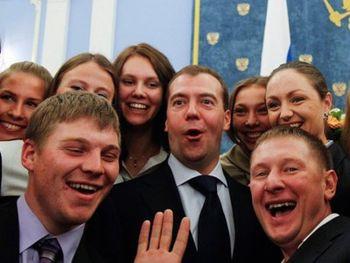 Медведев и студенты