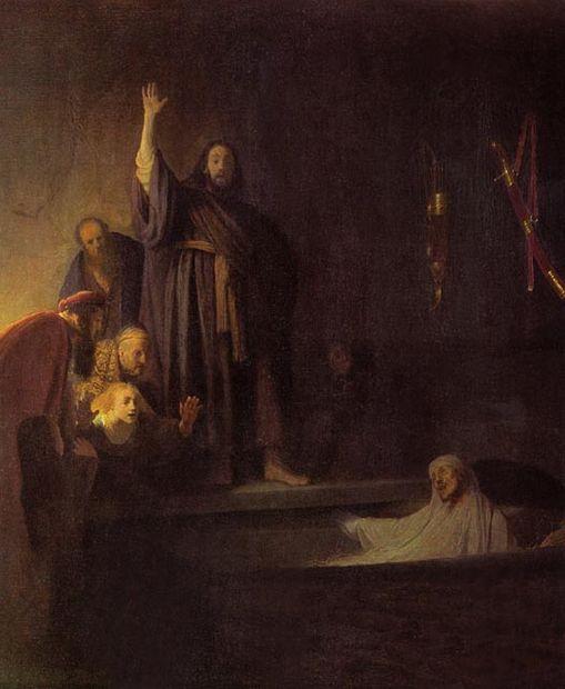 Рембрандт Воскрешение Лазаря