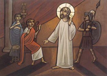 «Иисус и Пилат». Коптская икона