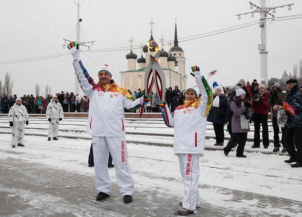 Олимпийский огонь в Воронеже