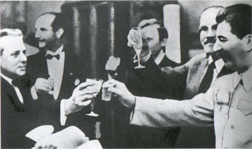 Сталин и Риббентроп