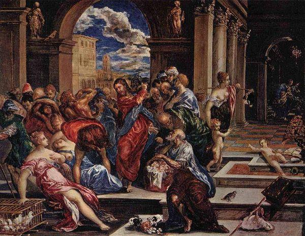 Эль Греко. Изгнание торгующих из храма