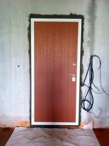 Бетонирование проёма двери