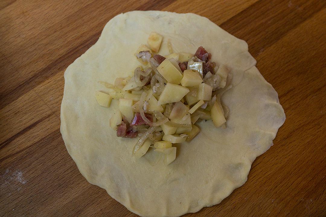 самса с мясом и картошкой рецепт с фото