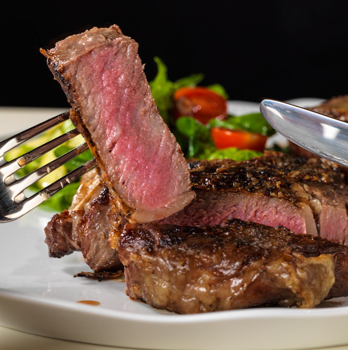 Рецепт стейка из обычного мяса