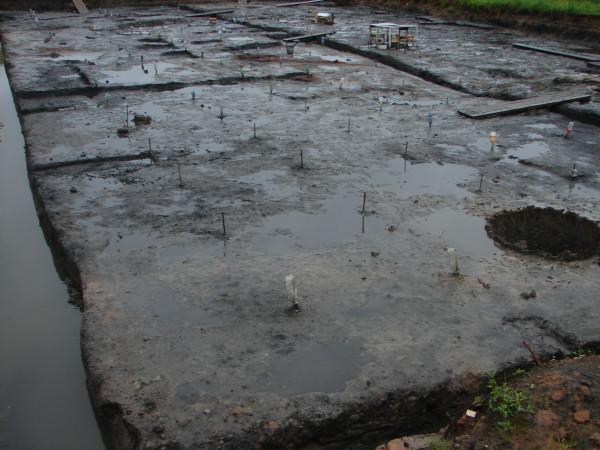Раскоп под дождём