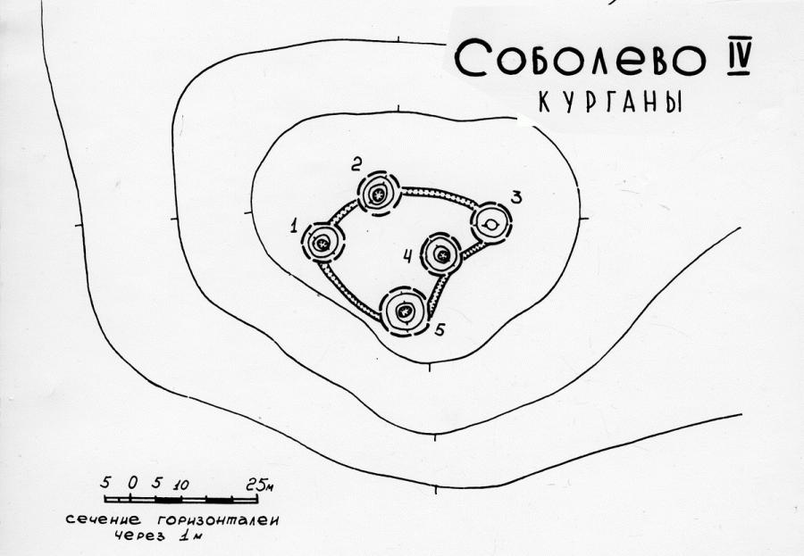 Группа  курганов у дер.Соболево  превращённая в оборонительную позицию