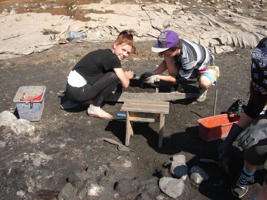 Расчистка камней и переборка слоя