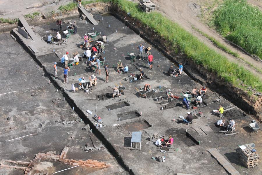 Работы на Курортном III-раскопе