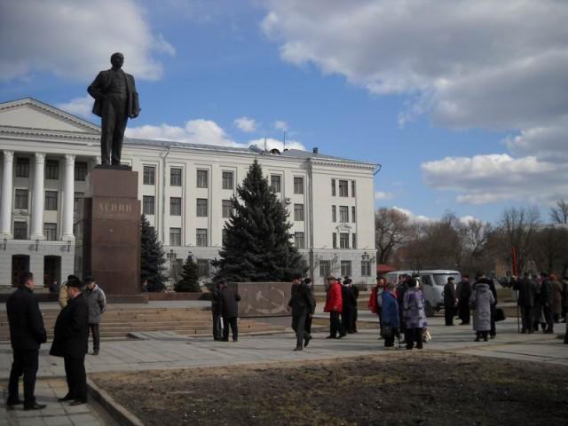 Митинг коммунистов в Пскове