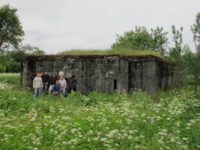 Пудеметный полукапонир Псковского укрепрайона