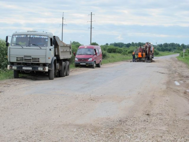 Ремонт шоссе у д.Васильево