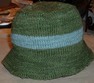 ChicKnits bucket hat in Manos del Uruguay Cotton Stria