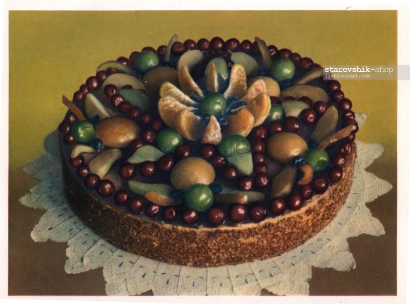 песочный торт с фруктами фоторецепт