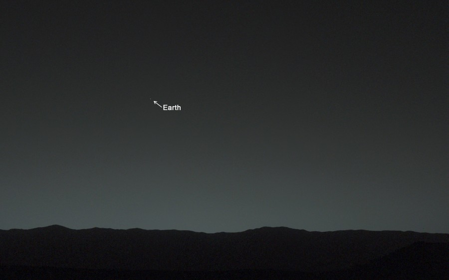Earth from Mars Image