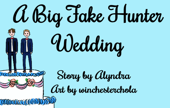 Title card with wedding cake