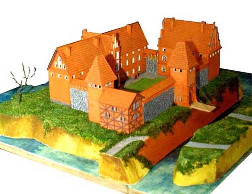 Макет замка Вальдау