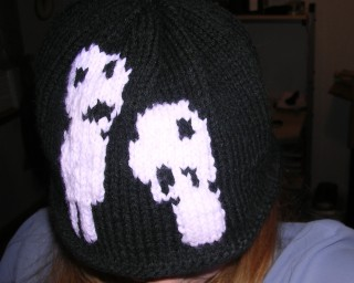 A close up of the hat