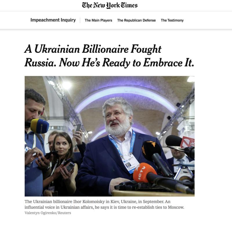 Коломойский в New York Times