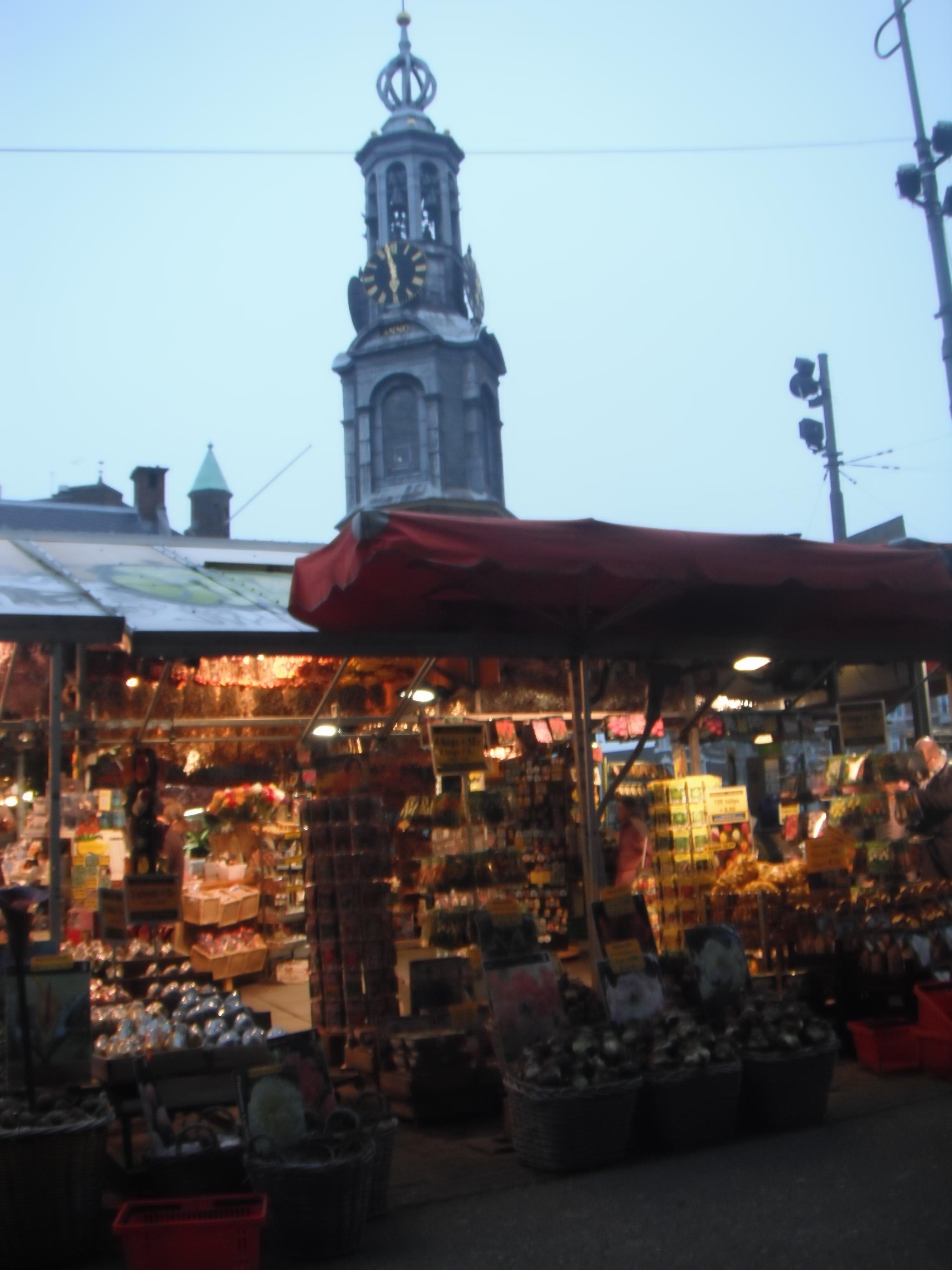 Амстердам Цветочный рынок  и Монетная башня 01.03.2012
