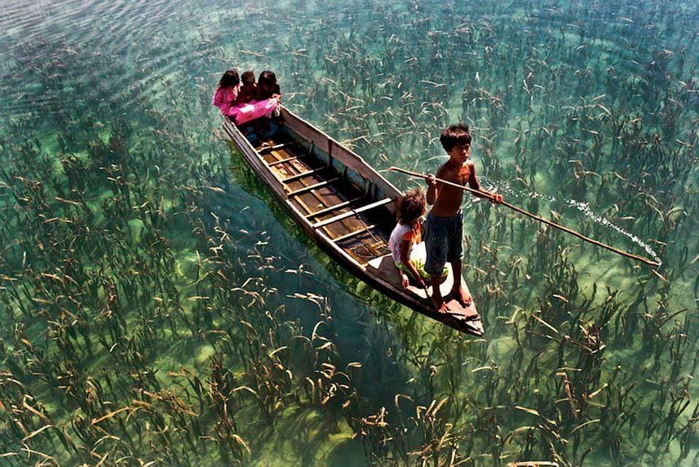 Озеро в Сабахе Малайзия.