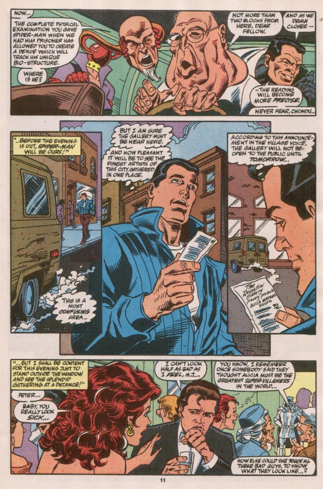 scans_daily | WEB OF SPIDER-MAN #73: The mask doesn't