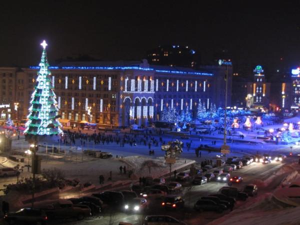 Майдан Независимости. Главная елка Украины 2013