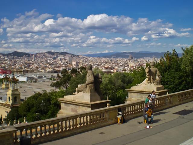 Барселона с горы Монтжуик
