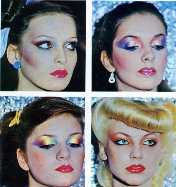 мода 80-х годов фото одежда и прически макияж