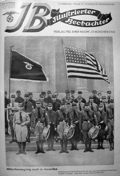Chicago Nazis on the cover of a German magazine, 1931