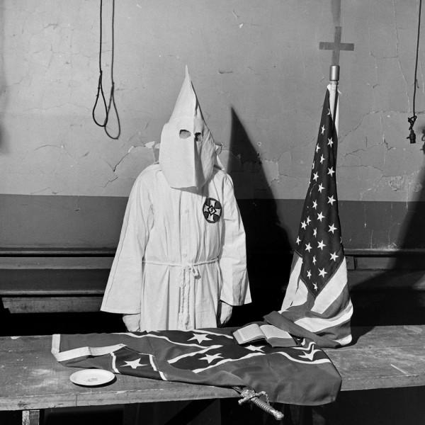Preparing for a KKK initiation ceremony, Georgia 1946