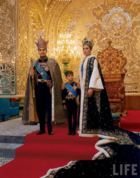 The Shah of Iran and his family at the coronation ceremony in 1967