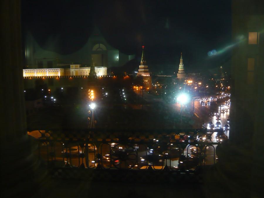 Боровицкая площадь ночью_2012-11-23